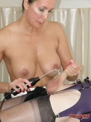 Slave porn. Crossdressing slut gets mouth - Unique Bondage - Pic 12