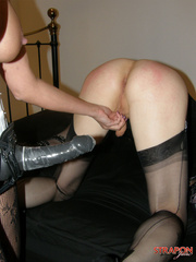 Slave porn. Crossdressing slut gets mouth - Unique Bondage - Pic 15