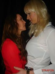 Femdom spanking. Blonde Tgirl gets her cock - Unique Bondage - Pic 3