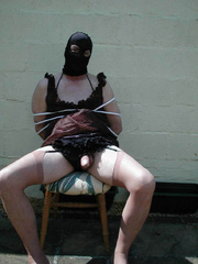 Strap on xxx. Hooded TV gets tied up by Jane - Unique Bondage - Pic 1