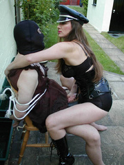 Strap on xxx. Hooded TV gets tied up by Jane - Unique Bondage - Pic 3