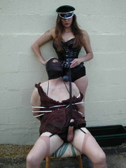 Strap on xxx. Hooded TV gets tied up by Jane - Unique Bondage - Pic 4