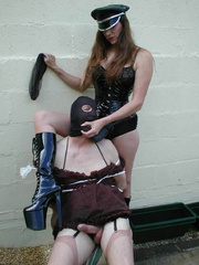 Strap on xxx. Hooded TV gets tied up by Jane - Unique Bondage - Pic 5