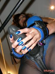 Submissive porn. Jane wearing tight black - Unique Bondage - Pic 9