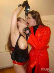 Strap sex. Great tits on Strapon Janes - Unique Bondage - Pic 6
