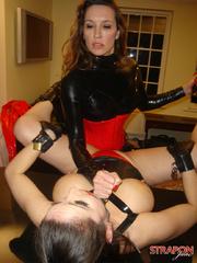 Strap sex. Great tits on Strapon Janes - Unique Bondage - Pic 10