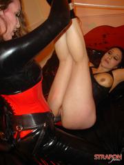Strap sex. Great tits on Strapon Janes - Unique Bondage - Pic 11