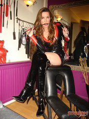 Strap sex. Jane in leather fuck me boots - Unique Bondage - Pic 8