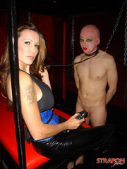 Femdom fetish. Jane lets her slave out of - Unique Bondage - Pic 6