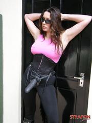 Slave xxx. Horny Strapon Jane shows off her - Unique Bondage - Pic 11