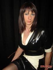 Femdom porn. Femdom Jane fucks her Tgirl - Unique Bondage - Pic 2