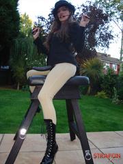 Femdom fetish. StrapOn Jane take her riding - Unique Bondage - Pic 1