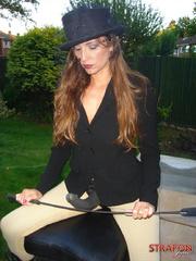 Femdom fetish. StrapOn Jane take her riding - Unique Bondage - Pic 3