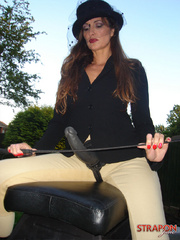 Femdom fetish. StrapOn Jane take her riding - Unique Bondage - Pic 4