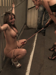 Bdsm xxx. Harmony Rose gets publicly bound, - Unique Bondage - Pic 15