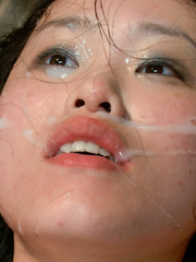 Slave girls. Hot Asian babe with big tits is - Unique Bondage - Pic 14