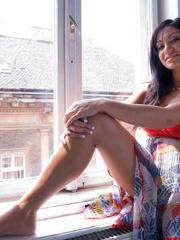 Bdsm sex. Romanian hottie Lea Lexis gets ass - Unique Bondage - Pic 1