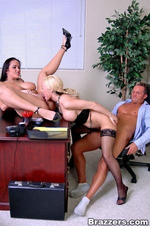 Secretary porn. 2 busty secretary Carmel - XXX Dessert - Picture 13