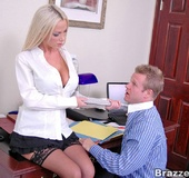 Xxx office. Busty Nikki Benz really want her office mate to fuck her on