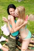 Teen porn. Two young girls toying their tight wet…