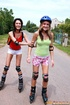 Lesbi. Two skating teenage girls go fully lesbian on eachother.