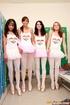Hot lesbian. Four cute lesbian girls practising…