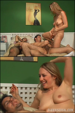 Bisexualporn. Double Blowjob for a Lucky - XXX Dessert - Picture 20