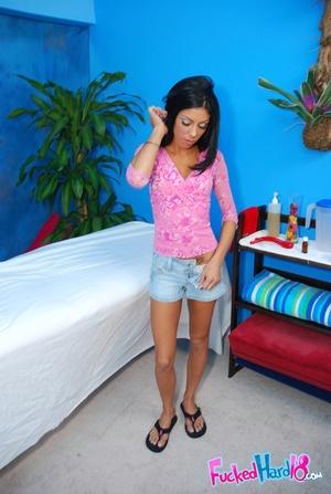 Young teen. Petite brunette teen fucked  - XXX Dessert - Picture 2