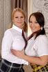 Massive tits. Busty lesbian schoolgirls have hot…