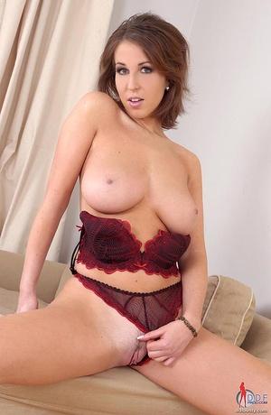 Huge boobs. Brunette babe Caroline C toy - XXX Dessert - Picture 6