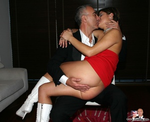 Stocking legs. Cigar smoking British slu - XXX Dessert - Picture 6