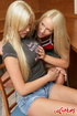 Teen porn. Busty blonde lesbian babes dildoing her…