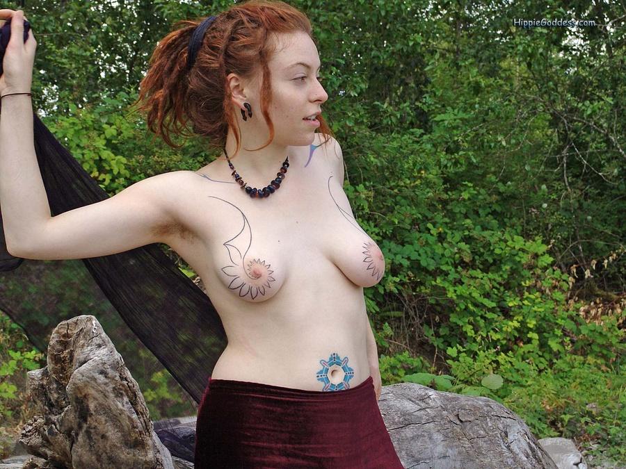 hippie girl dreads porn