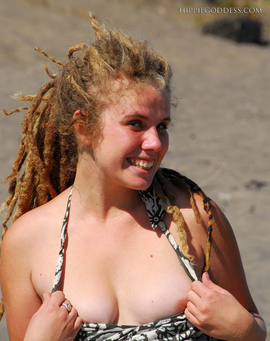 Blonde with dreads nude