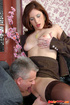 Old & young sex. Pretty office girl getting…