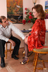 Old young sex. Upskirt teaser unbuttons her blouse…