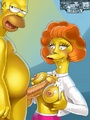 Toon Homer fucking tits of his neighbor - Picture 1