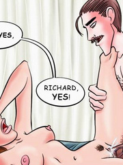 Comic sex galleries. Oh Richard! You're beast! - Cartoon Porn Pictures - Picture 5