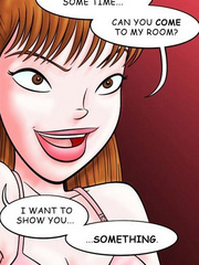 Comic sex. Can you come to my room? I want to - Cartoon Porn Pictures - Picture 5