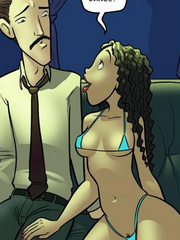 Free adult cartoons. Latina striptease girl - Cartoon Porn Pictures - Picture 2