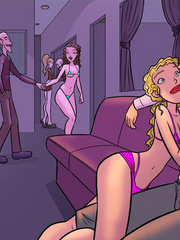 Free adult cartoons. Latina striptease girl - Cartoon Porn Pictures - Picture 5