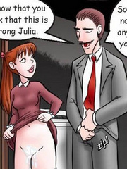 Nude cartoon. Boy..she sure can suck dick! - Cartoon Porn Pictures - Picture 3