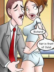 Adult comix. Richard! Not in front of Julia! - Cartoon Porn Pictures - Picture 4