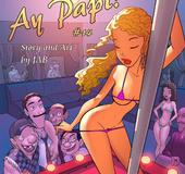 Comics porn. Gils in striptease club show all…