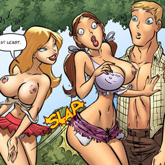 Adult comix. I's s'pose I's can slip it in her - Cartoon Porn Pictures - Picture 1