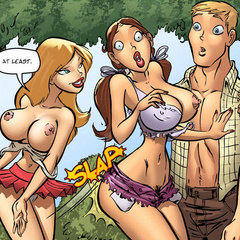 Toon porn comics. Young guy fucked 2 sex bombs - Cartoon Porn Pictures - Picture 3