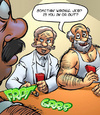 Adult comic. Men playing poker, and may not only..
