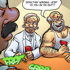 Adult comic. Men playing poker, and may not - Cartoon Porn Pictures - Picture 2