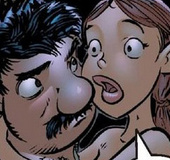 Erotic comics. Older men have conceived to arrange an orgy with busty
