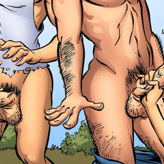 Adult comic art. Git yore ass back here'n git - Cartoon Porn Pictures - Picture 2